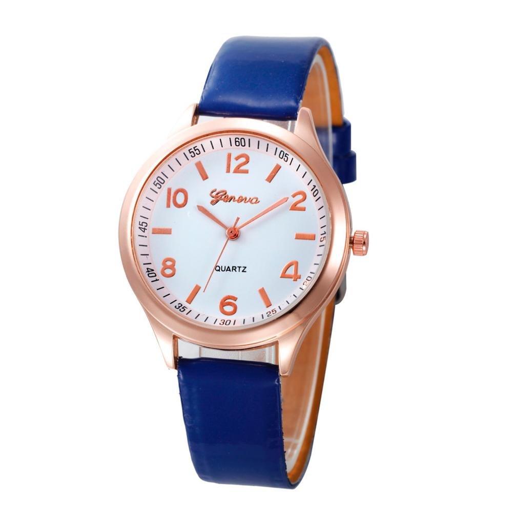 Sinmaカジュアルwatchesgoldフレームレザー腕時計アナログクオーツ腕時計 B071NVL7CR ホワイト