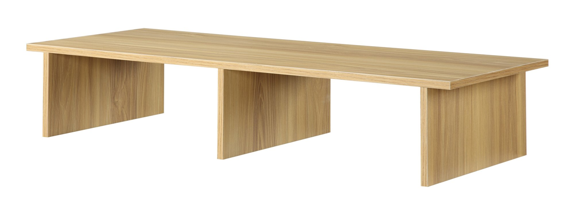 Designs2Go Large TV / Monitor Riser, Light Oak by Convenience Concepts