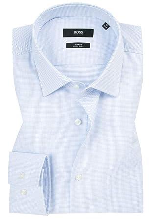 ab2eee5c Amazon.com: Hugo Boss Men's Textured Jenno Slim Fit Dress Shirt: Clothing