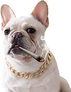Fladorepet Choke Halskette Fur Franzosische Bulldogge Mittelgrosse Und Grosse Hunde Kubanisches Design 15 Mm Breit 36 8 Cm Lang Amazon De Haustier