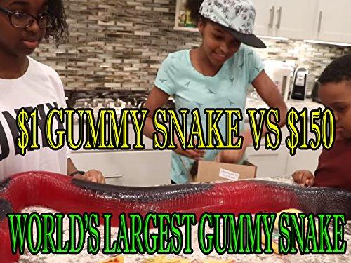 Snake Onyx (1 Dollar Gummy Snake Versus 150 Dollar World's Largest Gummy Snake)