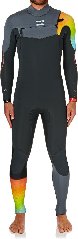 Billabong Furnace Comp 4 ~ 3 mm 2018 Chest Zip Wetsuit Medium Tallグラファイト