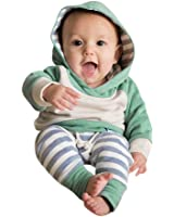 Forthery Baby Clothes, 3PCS Newborn Baby Girls Hoodie Tops+Pants+Headband Outfits