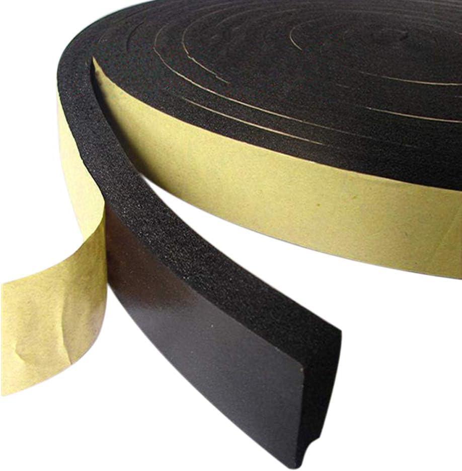 High Density Foam Tape 32.8 Feet Long X 4 Inch Wide X 0.078 Inch Thick Foam Seal Strip Black Adhesive Weather Strip Foam Tape