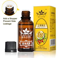 Lymphatic Drainage Gingerl Oil 100% PURE Natural Ginger Boy Massage Oils Plant Massage Oil 30 ml (HJFCY)