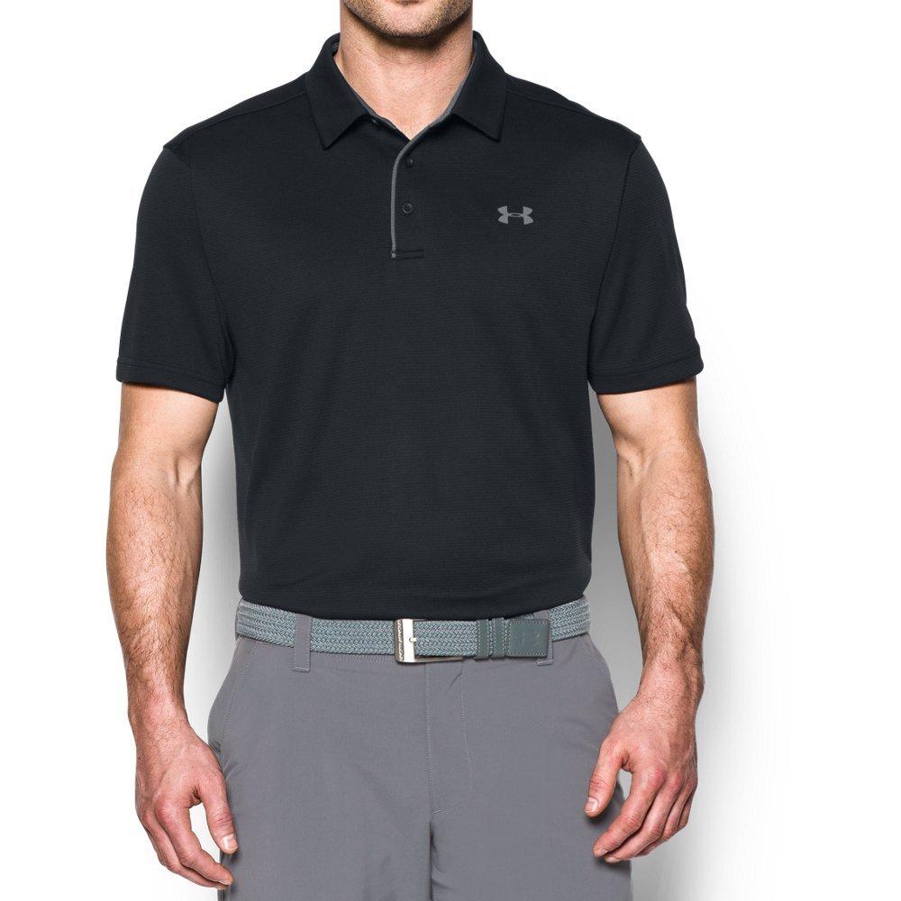 Under Armour Men's Tech Polo, Black (001)/Graphite, Large