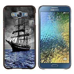 """Be-Star Único Patrón Plástico Duro Fundas Cover Cubre Hard Case Cover Para Samsung Galaxy E7 / SM-E700 ( Skoonar velero viejo Seas"""" )"""