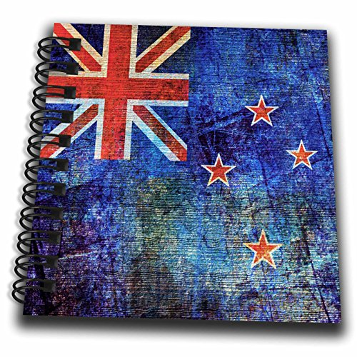 3dRose Andrea Haase Grunge Flag Art - Distressed Style Grunge Flag Of New Zealand - Mini Notepad 4 x 4 inch (db_268078_3)