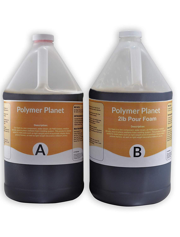 Liquid Urethane Closed Cell Rigid Pour Foam 2 Lb Density - 1 Gallon Kit Total by Polymer Planet