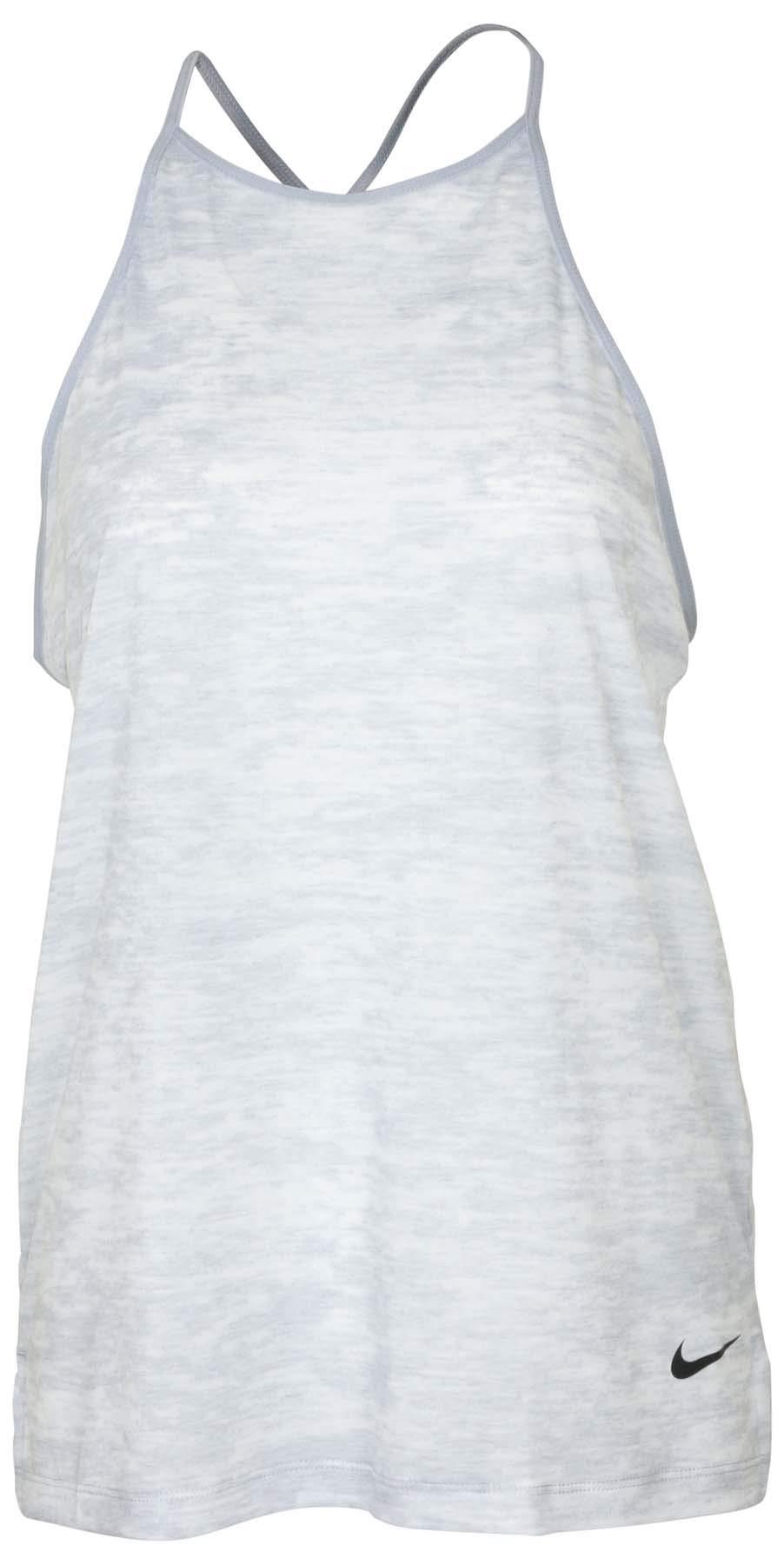 Nike Women's Breathe Loose Tank Top-Wolf Grey Heather-Small