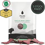 Paleo To Go - BIO Angus Beef Jerky (Protein-Snack) - grasgefüttertes Weiderind aus ÖSTERREICH (5 x 40g)