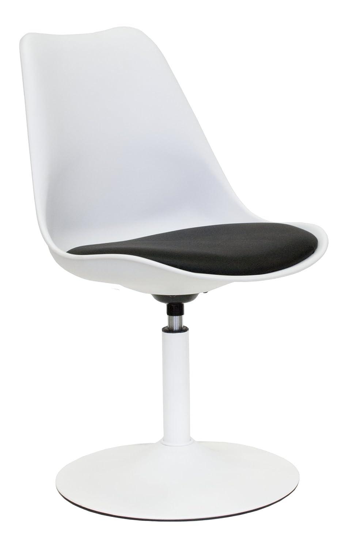 Drehstuhl weiß schwarz  Tenzo 3303-424 TEQUILA - Designer Esszimmerstuhl Viva ...