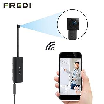 Fredi cámara espía HD 720P con Red Mini Wifi Cámara Oculta Modular P2P Fai Da Te sin hilos con sensor de movimiento - Videocámara DV Digital Video Recorder.