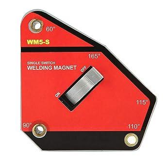 Abrazadera de soporte de imán de soldadura, Interruptor único de tamaño pequeño con./