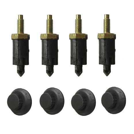 Soulitem 8 Piezas/Conjunto Clips Grapas Tornillos HDI Cubierta del Motor