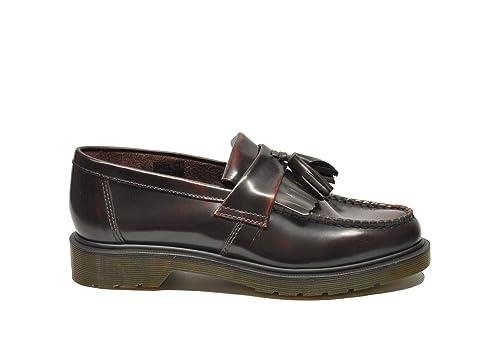 Dr. Martens Hombre Adrian Burdeos Cuero Mocasín: Amazon.es: Zapatos y complementos