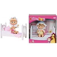 Maşa ile Koca Ayı Masha Emzikli Yataklı 12 cm Bebek - Simba