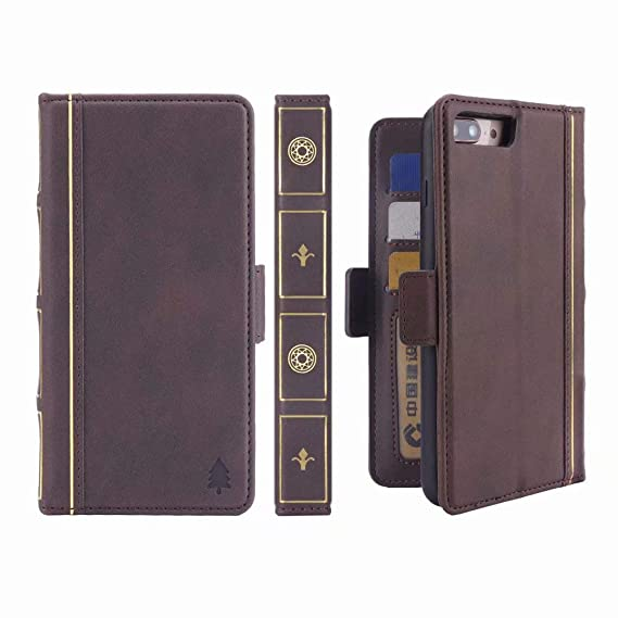competitive price 30f28 74c84 Vintage Brown BOOK Wallet Leather Case Flip Cover for iPhone 7 Plus,  Miniko(TM) Vintage Leather Wallet BOOK Style Retro Case Slim Cover for  iPhone 7 ...