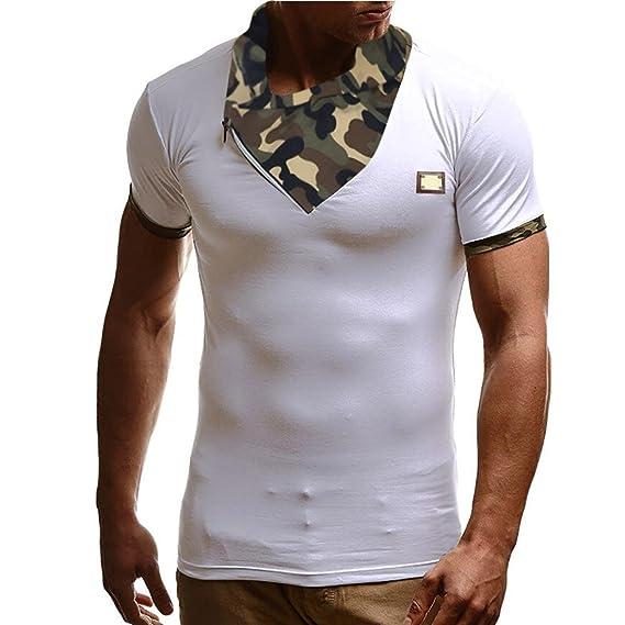 Camiseta Hombre,Venmo Camiseta de Camuflaje Hombre Militares Camisetas Deporte Ropa Deportiva Camisa de Manga
