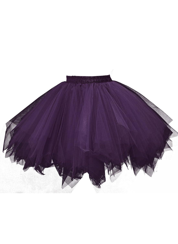 emondora Womens Tutu Tulle Petticoat Ballet Bubble Skirts Short Prom Dress up