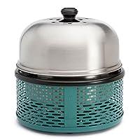 BBQ Pro Holzkohlegrill Cobb klein Edelstahl silber Camping Balkon Picknick ✔ Deckel ✔ rund ✔ tragbar rauchfrei ✔ Grillen mit Holzkohle ✔ für den Tisch