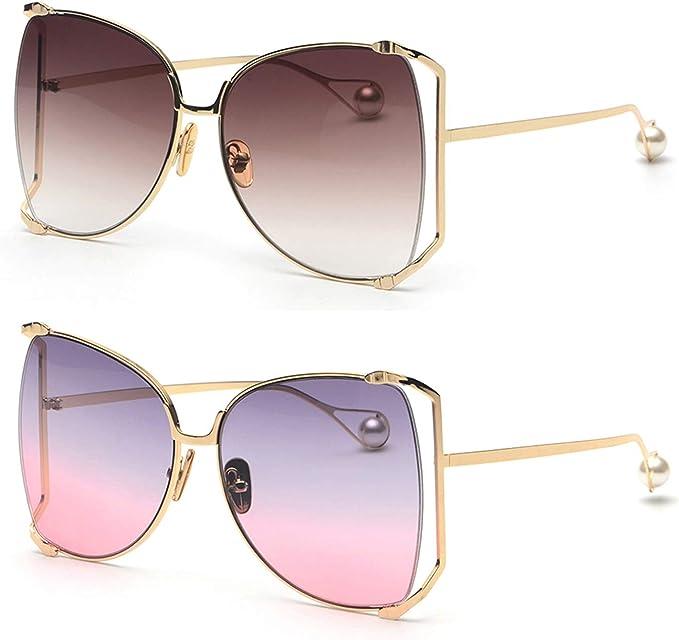 Amazon.com: FAGUMA Gafas de sol de gran tamaño para mujer ...