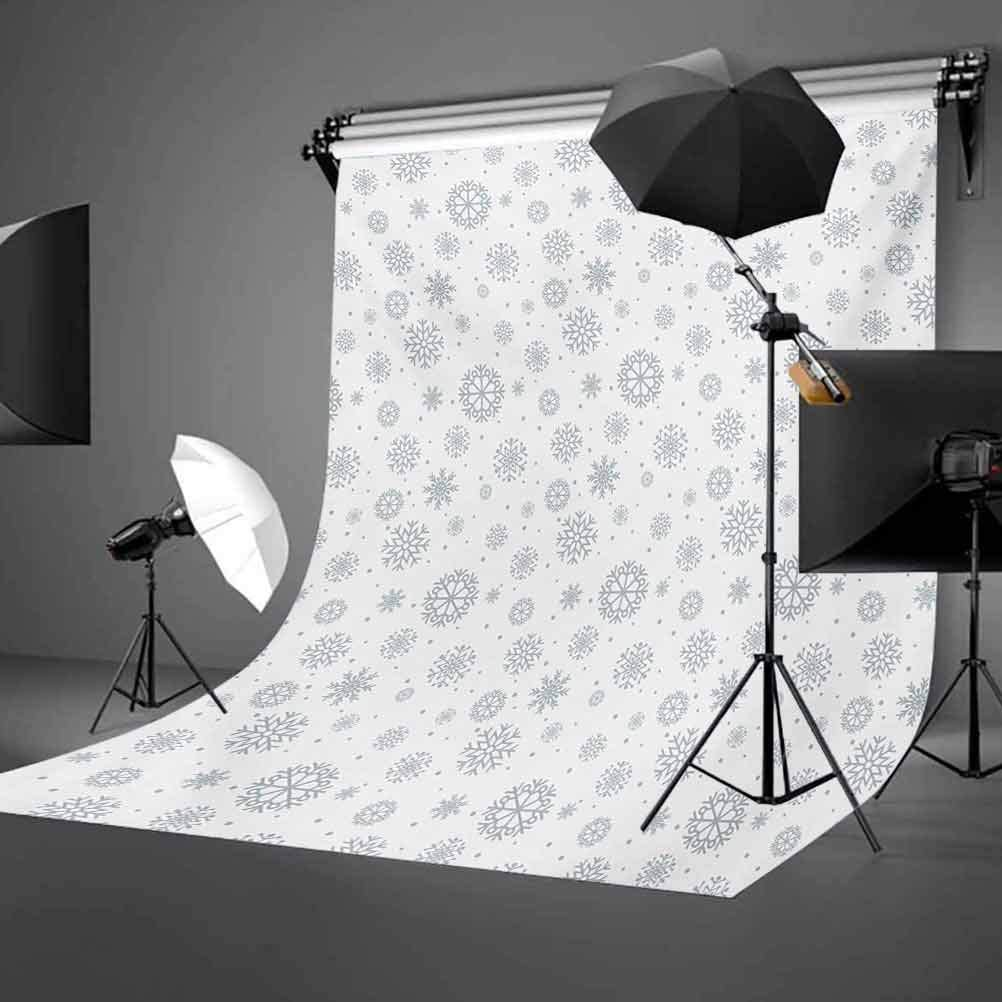 10x15 FT Backdrop Photographers,Ornate Snowflake Motifs Dots Retro Christmas Inspired Repetitive Background for Kid Baby Boy Girl Artistic Portrait Photo Shoot Studio Props Video Drape Vinyl