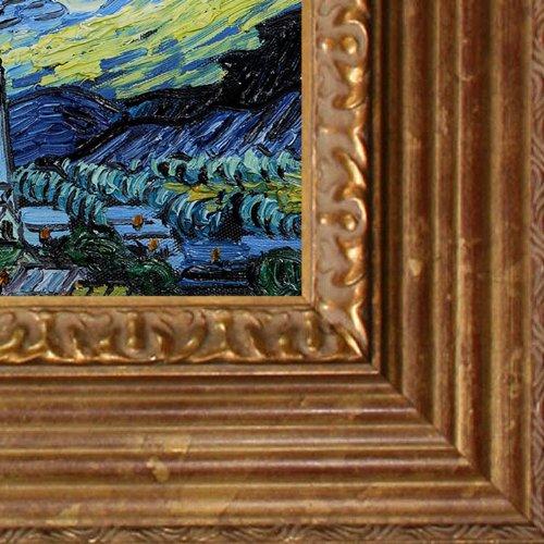 overstockArt Van Gogh Starry Night with Vienna Wood Frame, Gold Leaf Finish