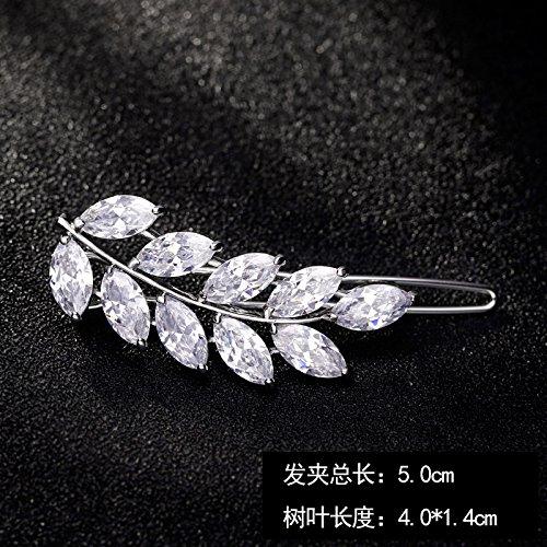 Korean hair accessories Micro Pave zircon minimalist elegant hairpin side clip bangs frog clasp clip top folder word folder ()