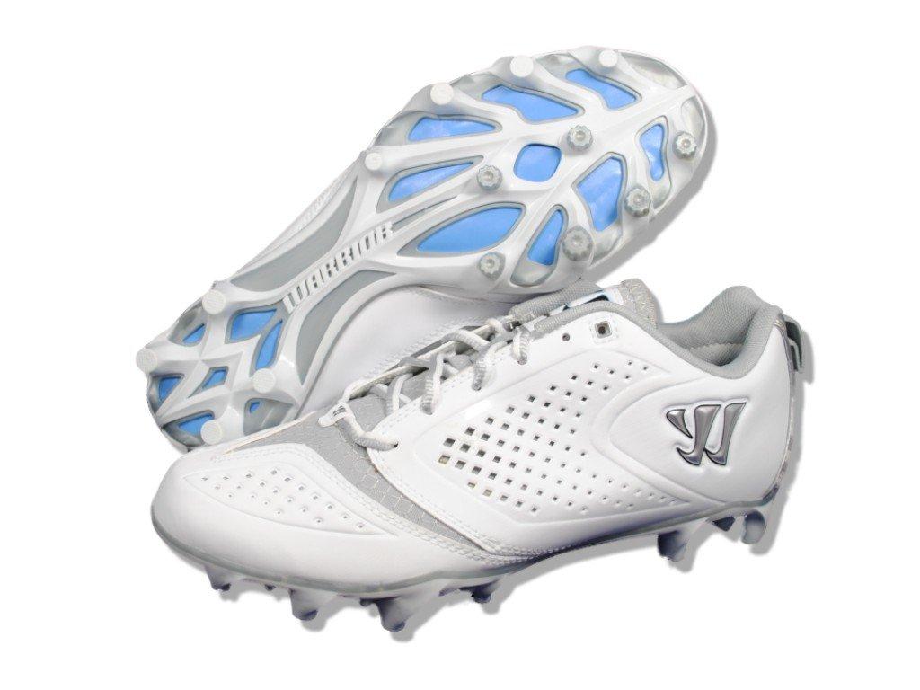 Warrior Lacrosse Burn Speed 5.0 Low-U, White/Silver, 9.5 M US by Warrior Sports