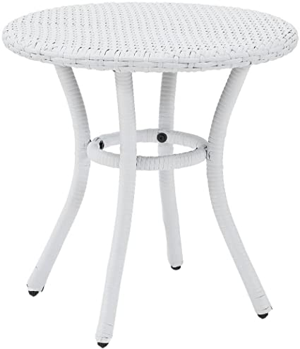 timeless design c90d9 2307b Crosley Furniture Palm Harbor Outdoor Wicker Round Side Table - White
