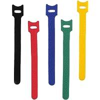50Pcs Reusable Fastening Cable Ties,Self Adhesive Adjustable Hook Loop Straps