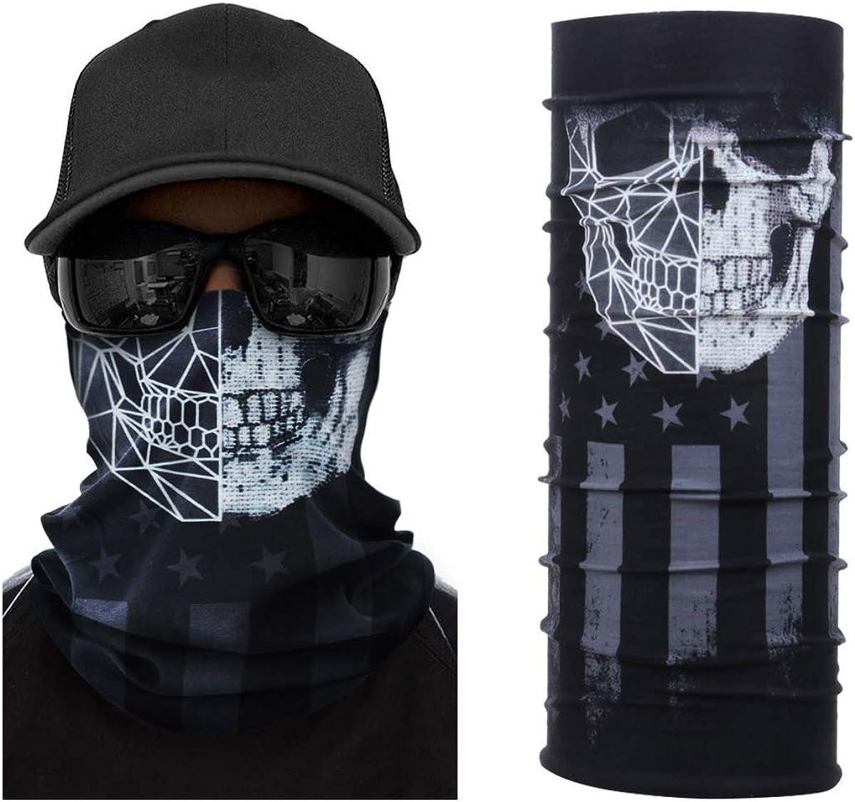 3D Tube Scarf Bandana Neck Gaiter Face Mouth Head Snood Headband Outdoor Cap