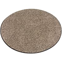 Round Chocolate Chip (brown and cream) Area Rugs (9 Round)