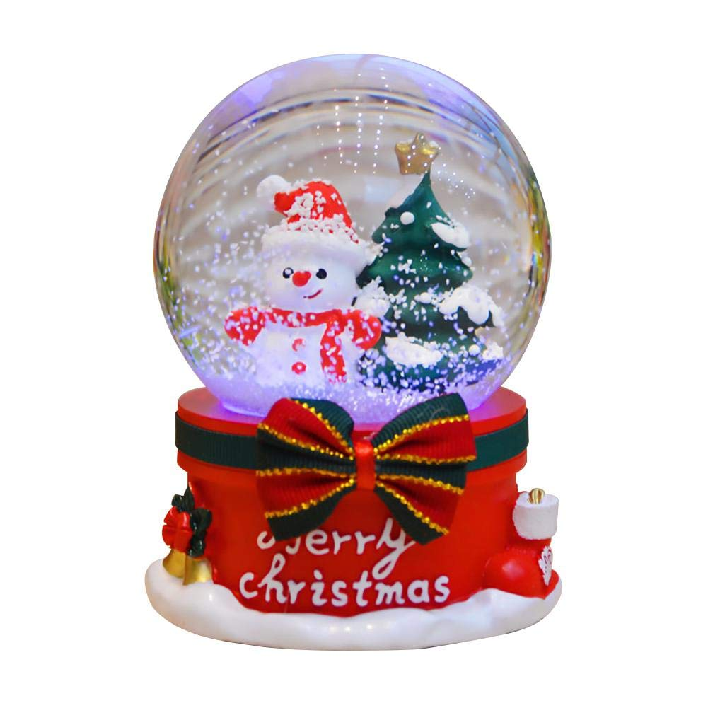 Christmas Snow Globe, Santa Reindeer et Castle Boîte à musique avec boule de cristal de Noël Santa Reindeer et Castle Boîte à musique avec boule de cristal de Noël cheerfulus