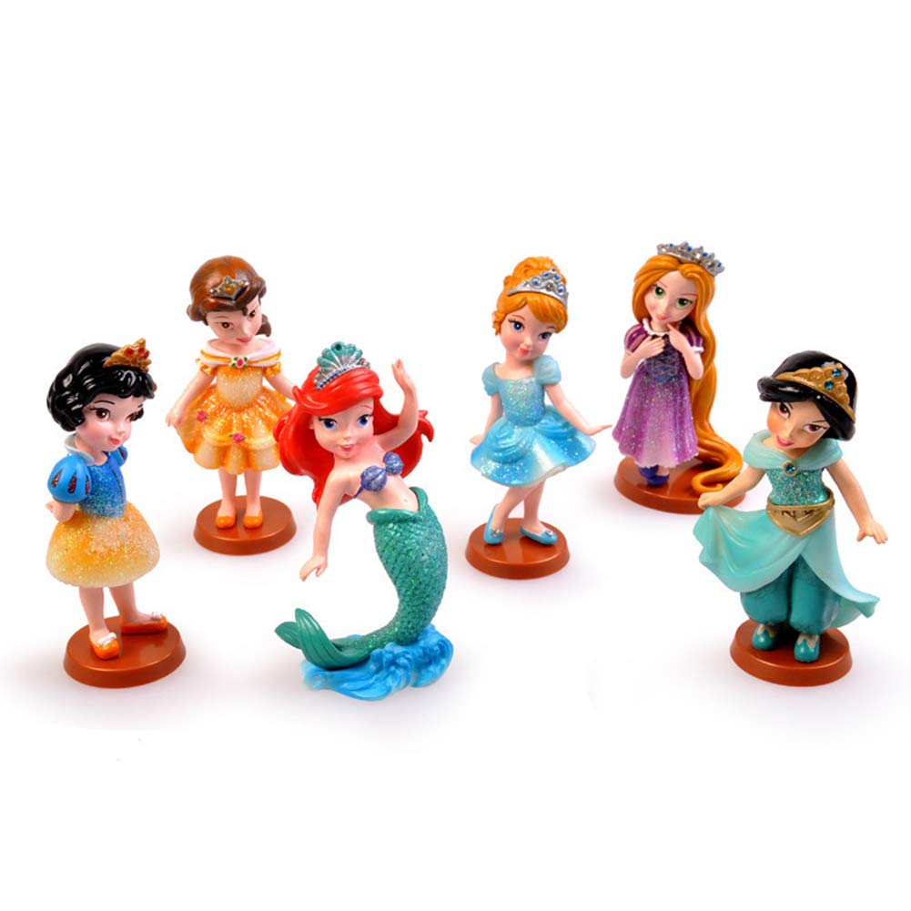 Princess From Disney Cartoon Cake Topper Mini Figure by ATII