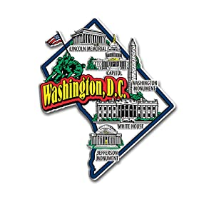 Washington D.C. State Jumbo Map Magnet
