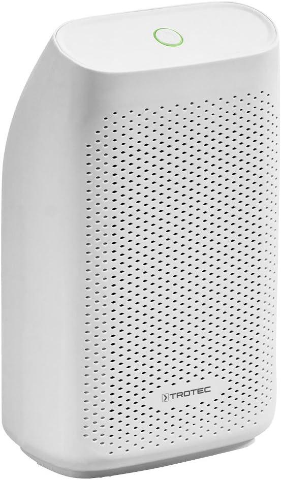 TROTEC Deshumidificador Peltier TTP 5 E / 300 ml por Día/Purificador de Aire/Habitaciones de 6m² / Filtro de Aire/Depósito de 0,7 L/Diseño Compacto y Elegante/Portátil