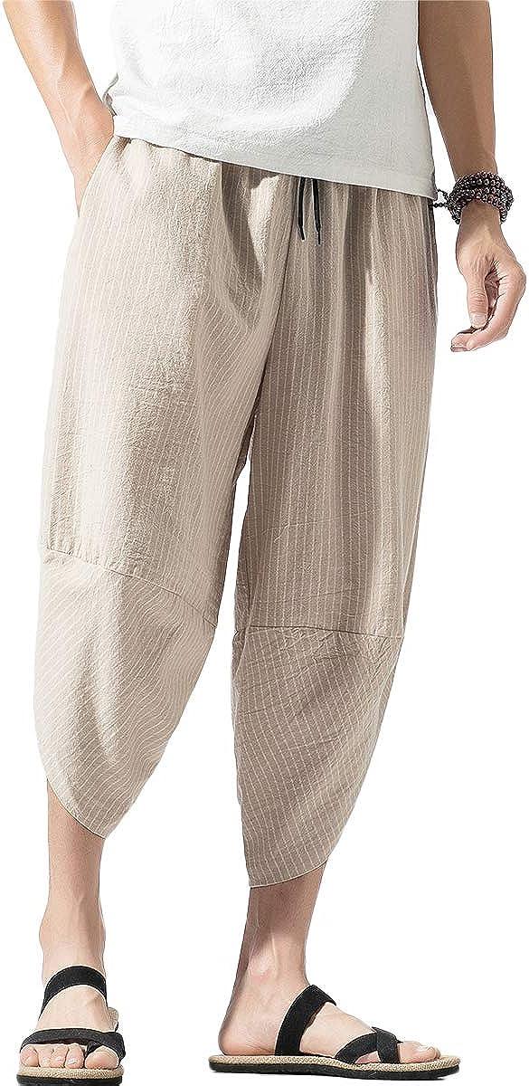 Estilo Bohemio Pantalon Tipo Harem De Algodon Con Bolsillos Para Hombre Hippie Para Verano Con Pernera Ancha Mirecoo Pantalones Ropa