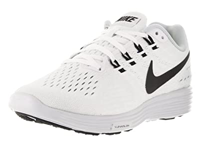 buy popular cef94 e1310 Image Unavailable. Image not available for. Color  Nike Womens Lunartempo 2  White Black Pure Platinum Running Shoe ...