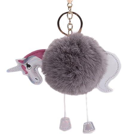 Amazon.com: chuangli misterio y magia unicornio llavero ...
