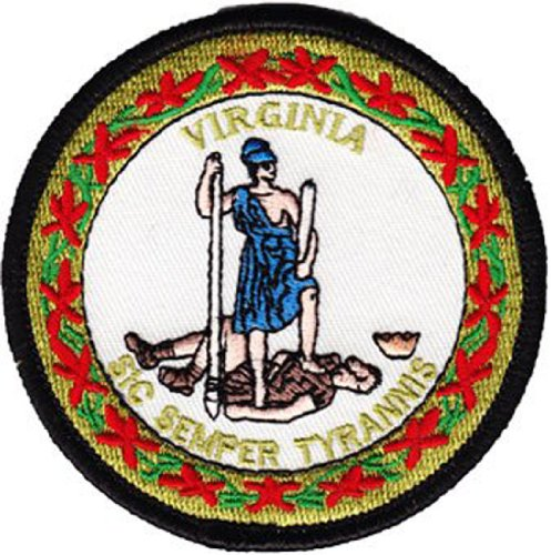 Virginia State Seal - Virginia - 3 in Round State Seal Patch