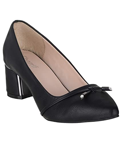 8cd73db12e SHERRIF SHOES Block Heel Pumps: Buy Online at Low Prices in India ...