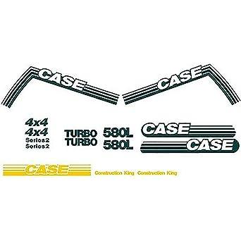 New Case 580L Construction King Backhoe Loader Decal Set Turbo Series 2