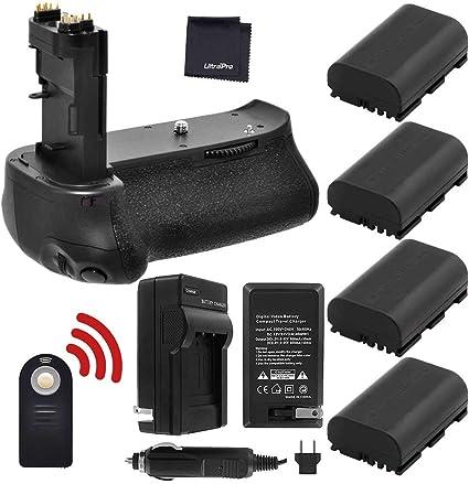 BG-E14 Replacement Battery Grip Battery Grip Kit for Canon EOS 80D Digital SLR Camera Includes Qty 2 BM Premium LP-E6 Batteries