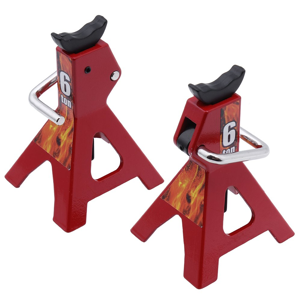 Hobbypark 2-Pack Metal 6 Ton Scale Jack Stands Height Adjustable Repairing  Tool for 1/10 RC Crawler Truck TRX-4 Trx4 Axial SCX10 Wraith Gelande Tamiya