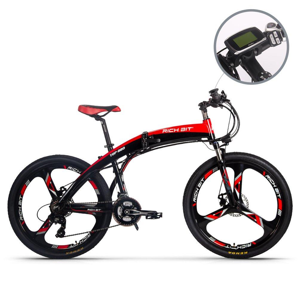 RLH TOP-880 電動アシスト自転車 折り畳むマウンテンバイク 26インチ 油圧ブレーキ 36V*9.6AHリチウムバッテリー 公道で乗れます B07DKC2WPS
