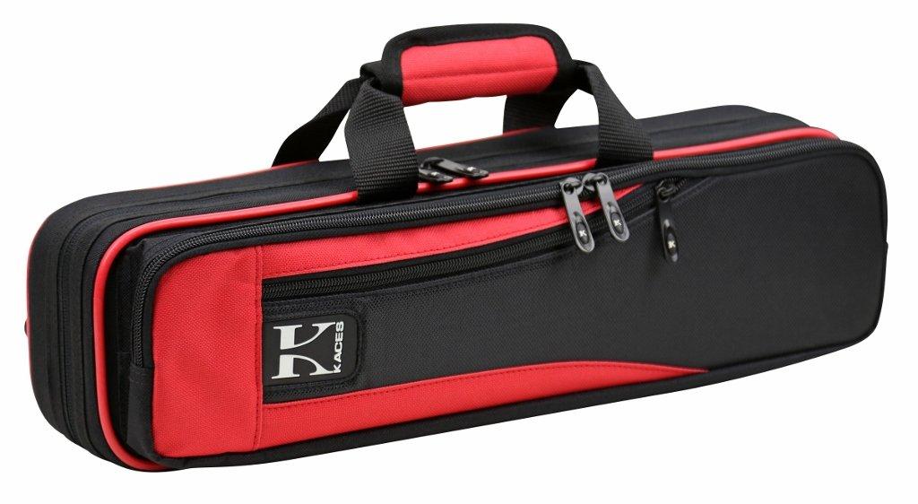 Kaces Lightweight Hardshell Flute Case, Red, KBO-FLRD