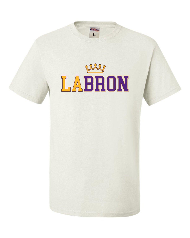Adult L A Bron T Shirt 8013