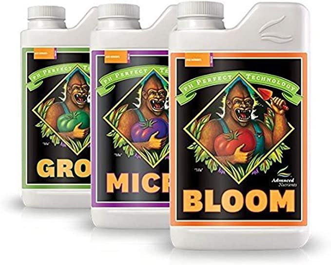 Advanced Nutrients Bloom, Micro, Grow-Best For pH Adjusting System